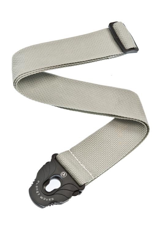 Planet Waves Planet Lock Guitar Strap, Polypropylene, Silver