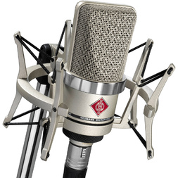 Neumann TLM102 Studio Set Large Diaphragm Microphone with EA4 Shock Mount (Nickel)  image