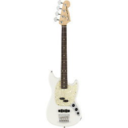 American Performer Mustang Bass Rosewood Fingerboard Arctic White - Preorder Now image