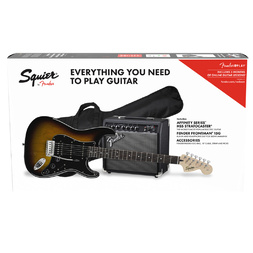 Squier Affinity Stratocaster HSS Pack with Amp and Gig Bag - Brown Sunburst image