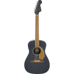 Fender Malibu Player Acoustic Electric Guitar Midnight Satin image