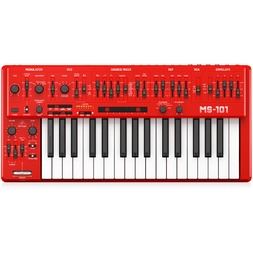 Behringer MS101 Red Analogue Synthesizer image