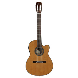 Alvarez AC65HCE Natural Thin Neck Cutaway Classical/Electric Guitar image