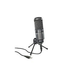 Audio Technica AT2020USB+ USB Condenser Microphone with Mount, Pouch, Stand & Cable image