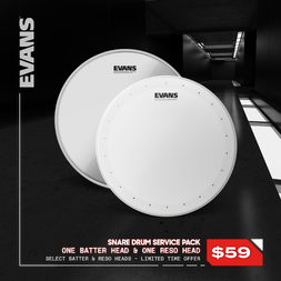 Evans B14DRY Coated Snare Pack w/Hazy 300 Resonant Head image