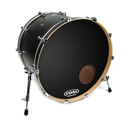 Evans EQ3 Resonant Black Bass Drum Head, 20 Inch image