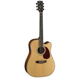 Cort MR710F Dreadnought Cutaway Gtr Satin Natural image
