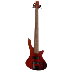 Cole Clark Long Lady 5-String Electric Bass - Red Fade image