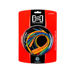 Hopscotch Patch Cables, 3.5 mm TS with 3.5 mm TSF Pigtail to 3.5 mm TS, 5 pc, Various Lengths image