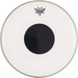 "Remo 18"" Controlled Sound Clear Bass Drum Head w/ Black Dot image"