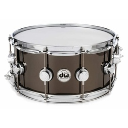 DW Collectors Series Snare - Black Nickel Over Brass (6.5x14) image