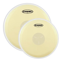 Evans Tri-Center Bongo Drum Head Pack, 7 1/4 and 9 5/8 Inch image