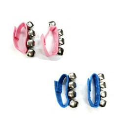 Mano Percussion Wrist Sleigh Bells on Poly Straps BLUE image