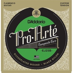 D'Addario EJ25B Pro-Arte Black Nylon Composite Flamenco Guitar Strings image