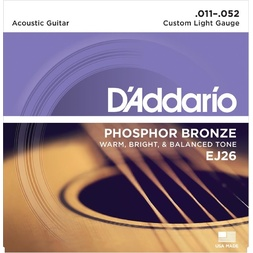 D'Addario EJ26 Phosphor Bronze Acoustic Guitar Strings, Custom Light, 11-52 image