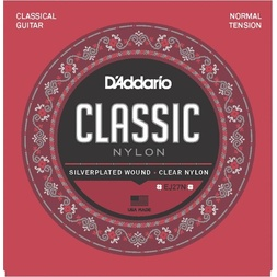 D'Addario EJ27N Student Nylon Classical Guitar Strings, Normal Tension image