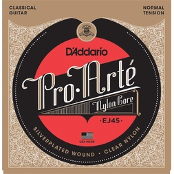 D'Addario EJ45 Pro-Arte Nylon Classical Guitar Strings, Normal Tension image