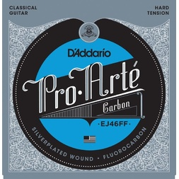 D'Addario EJ46FF ProArte Carbon Classical Guitar Strings, Dynacore Basses, Hard Tension image