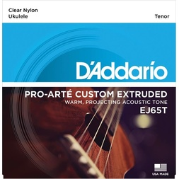 D'Addario EJ65T Pro-Arte Custom Extruded Nylon Ukulele Strings, Tenor image