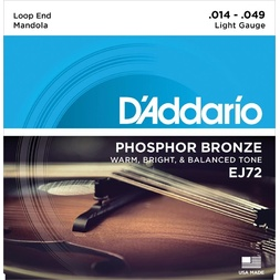 D'Addario EJ72 Phosphor Bronze Mandola Strings, Light, 14-49 image