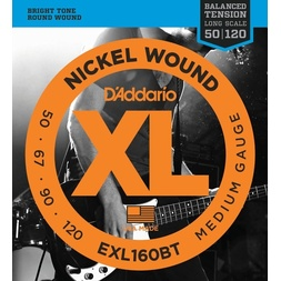 D'Addario EXL160BT Nickel Wound Bass Guitar Strings, Balanced Tension Medium, 50-120 image