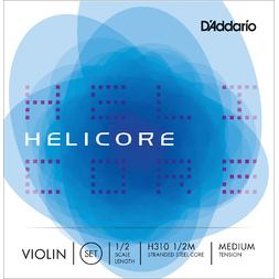 D'Addario 1/2 Size Violin String Set Medium Helicore image