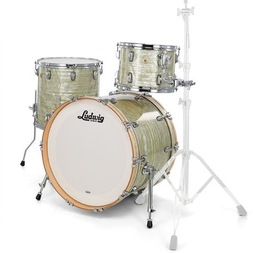 Ludwig Classic Maple Downbeat 3 Piece Shell Pack- Olive Pearl image