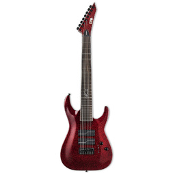 ESP LTD SC-608 Baritone Electric Guitar Red Sparkle image