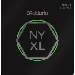 D'Addario NYXL0838 Nickel Wound Electric Guitar Strings, Extra Super Light, 8-38 image
