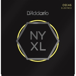 D'Addario NYXL0946 Nickel Wound Electric Guitar Strings, Super Light Top / Regular Bottom, 9-46 image