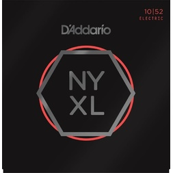 D'Addario NYXL1052 Nickel Wound Electric Guitar Strings, Light Top / Heavy Bottom, 10-52 image