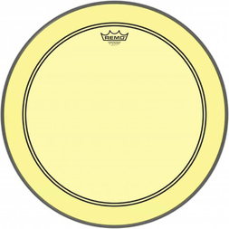 "Remo 20"" Colortone Powerstroke 3 Bass Drum Head Yellow image"