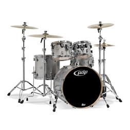 "PDP by DW Concept Birch 22"" Drum Kit Natural to Silver Sparkle  image"