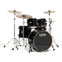 PDP Concept Maple by DW 5-Piece Drum Kit Pearlescent Black + Meinl HCS Cymbal Pack image