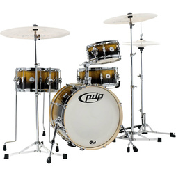 PDP by DW Daru Jones 'New Yorker' Compact Drum Kit w/ Hardware - Yellow/Black Sparkle Fade image