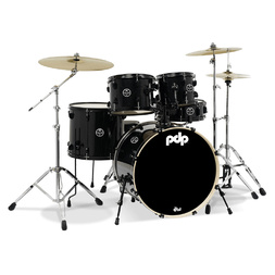 PDP Mainstage Drum Kit Black Metallic + Free Meinl HCS Cymbal Pack + Stool image