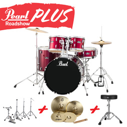 Pearl Roadshow-X 22 Inch 5 Piece Fusion Plus Drum Kit Package Red Wine image