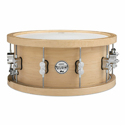 PDP by DW Concept Series 20 Ply Maple Wood Hoop Natural Snare Drum 14 x 5.5  image