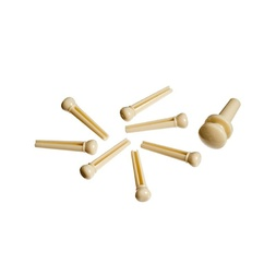 Planet Waves Injected Molded Bridge Pins with End Pin, Set of 7, Ivory image