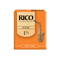 Rico Reeds 10 Pack Orange Box Alto Sax 1.5 image