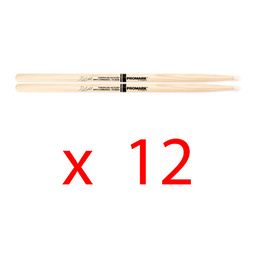 12x Promark Hickory 2BX Dave Lombardo Nylon Tip Drumstick - Brick Special image