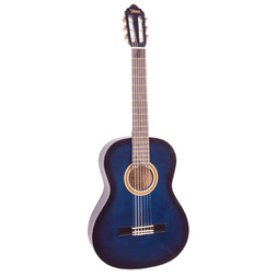 Valencia 1/2 Size Nylon String Student Guitar Blue image