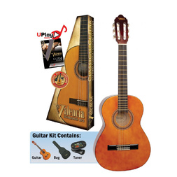 Valencia Series 100 Classical Guitar Package - Natural image